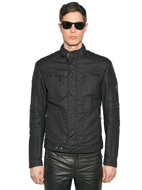 Jaket Cotton 1 lyst belstaff weybridge rubberized cotton jacket in black for