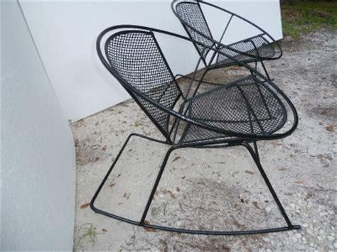 century salterini wrought iron patio hoop rocker