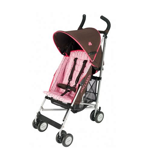 Stroller Mclaren Quest Preloved Babyloania maclaren triumph stroller coffee pink bubbles