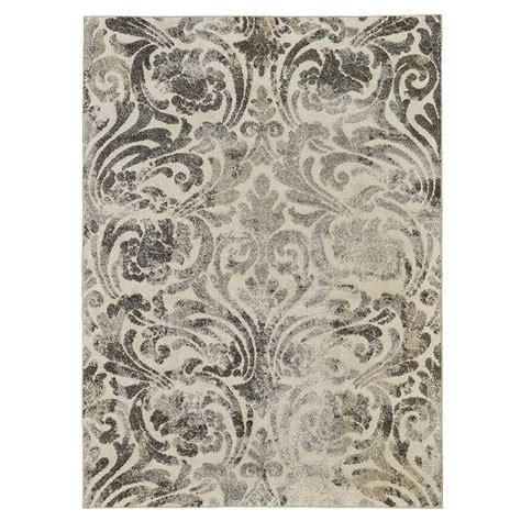 light gray area rug 5x7 urban collection contemporary sculpted effect damask light