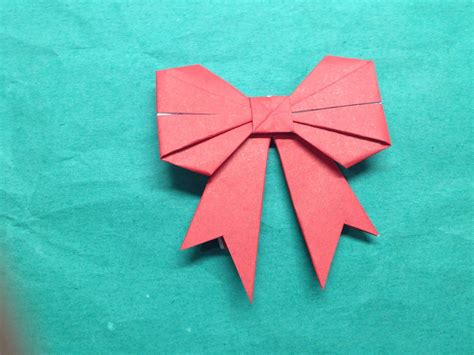 Paper Fold - how to fold a paper bow ribbon the of paper folding