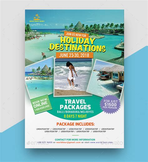 travel agency poster template 18 travel agency flyer templates free premium