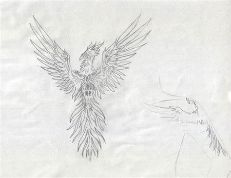 tattoo phoenix sketch phoenix tattoo design sketch by alviaalcedo on deviantart