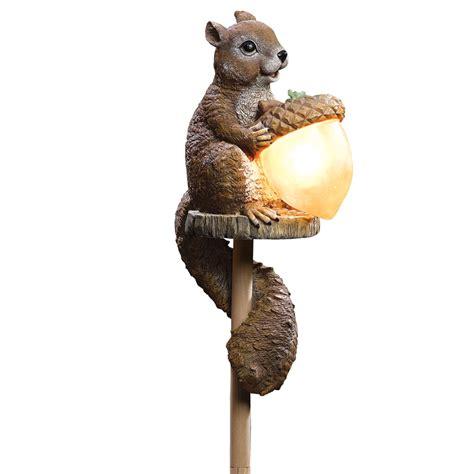 Squirrel Solar Light Collectionsetc Solar Sammy Squirrel Outdoor Garden Stake Light