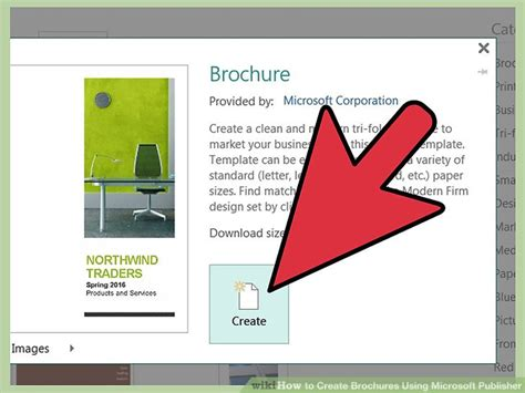 How To Make A Travel Brochure On Paper - how to create brochures using microsoft publisher 11 steps