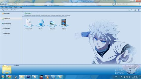 download theme untuk windows 7 anime theme win 7 killua zoldyck v2 by bashkara