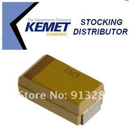 kemet capacitor smd kemet smd tantalum capacitor t491d107k016at size d 2917 7343 31 100uf 107k 16v 10pcs in