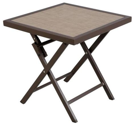 Folding Patio Side Table Hton Bay Tables Fairplay Patio Folding Side Table Ftm01272t Contemporary Outdoor Dining