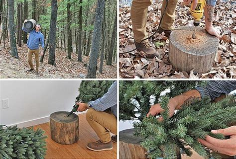 how to make a christmas tree stand diy rustic tree stand brings an eco friendly cheer to your home