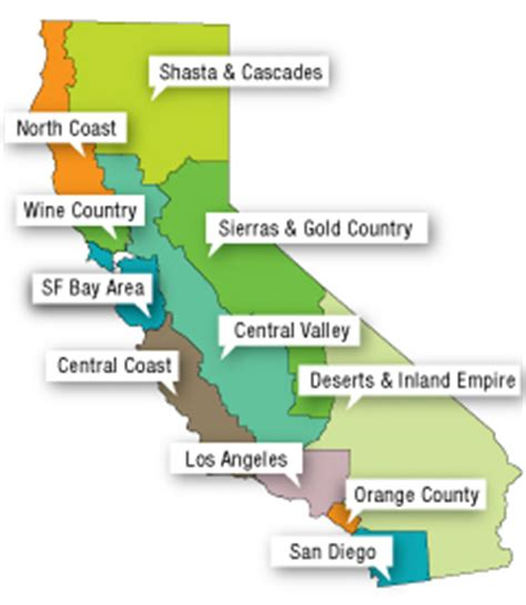 california map for tourist california tourist guide vacations travel and tourism
