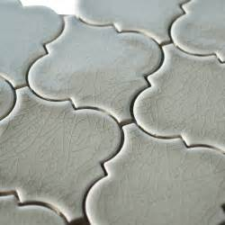 dove gray porcelain arabesque mosaic tile mediterranean tile by all marble tiles
