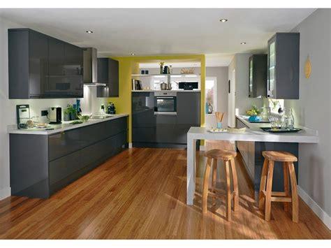 cuisine blanche laqu馥 sans poign馥s amazing cuisine sans poigne ezy graphite with meuble