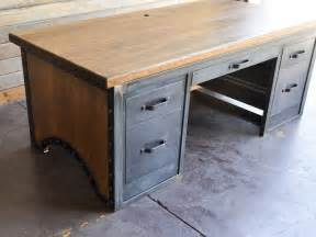 Custom Bookcases Chairmans Desk By Vintage Industrial Urban Icon