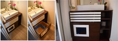 Litter Box Bathroom by How To Hide Your Cat S Litter Box In A Bathroom Cabinet
