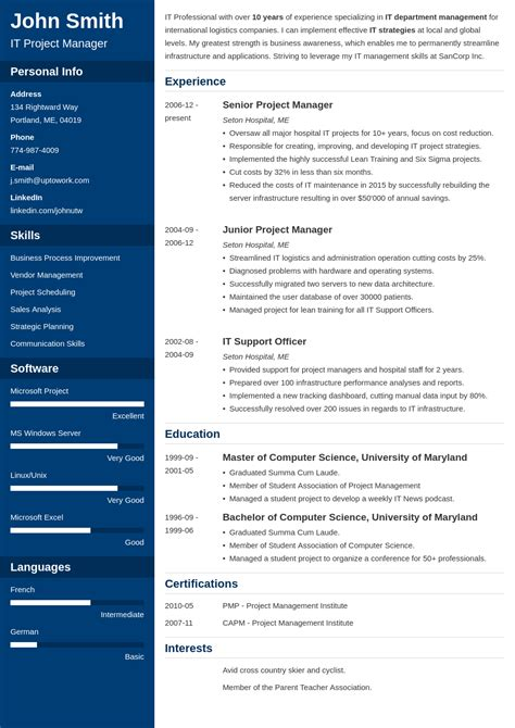 Create A Resume Template by 20 Resume Templates Create Your Resume In 5