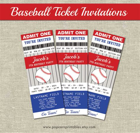 baseball ticket template pin baseball ticket template invitation image search