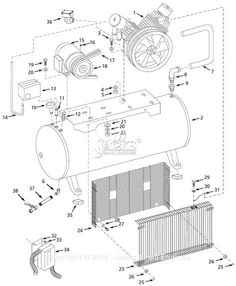 cbell hausfeld ci103129hpms parts diagram for air compressor parts