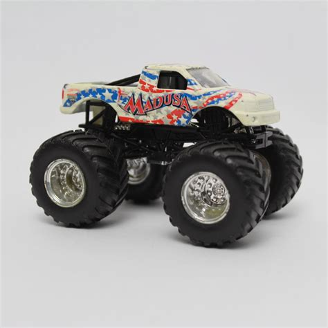 jam trucks toys wheels jam white blue madusa 3 1 2