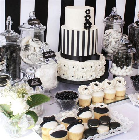 black and white table decorations 35 black and white year s table decorations