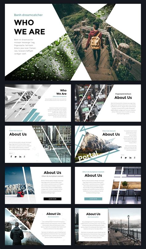 layout presentation indesign portal modern powerpoint template portal template and