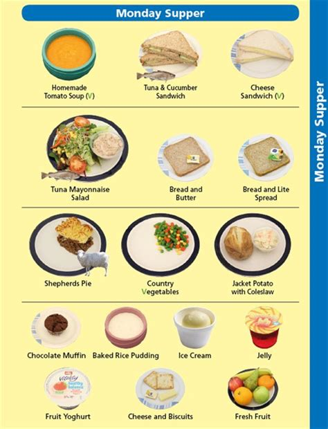 hospital menu template pictorial menu gives patients a helping countess of