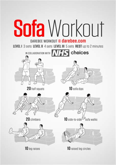 exercises to do on the couch visual workouts
