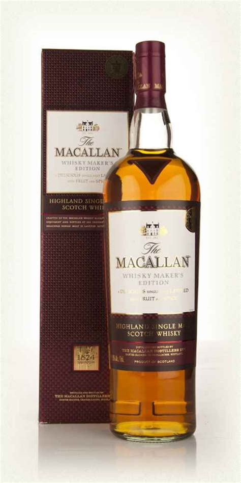 The Macallan Whisky Maker's Edition 1l Whisky   Master of Malt
