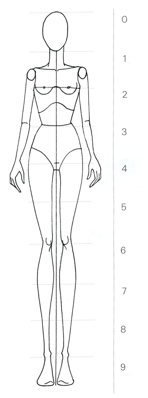 figure templates for fashion illustration the gallery for gt fashion figure templates front