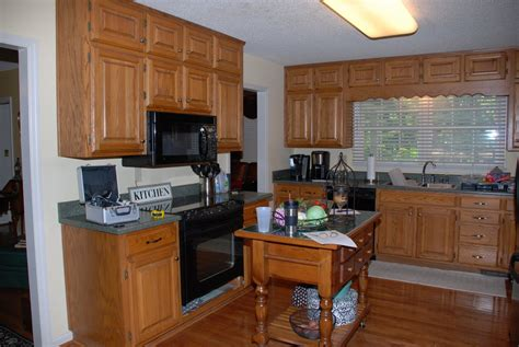 updating oak kitchen cabinets before and after southern inspirations 80 s kitchen update a question