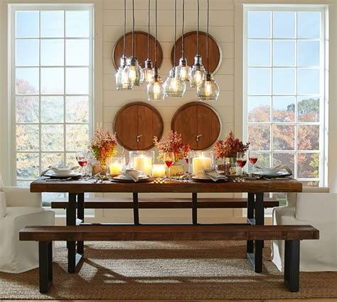 Pottery Barn Griffin Table by Griffin Reclaimed Fixed Table Bench 3 Dining Set