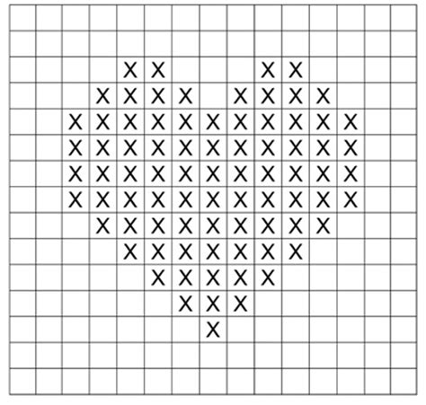 heart graph pattern for knitting knit a heart 1st anniversary knitting and heart