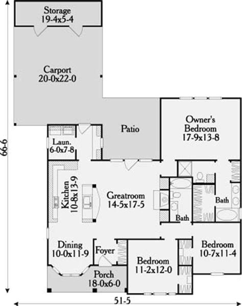 carport floor plans somerset 3644 3 bedrooms and 2 5 baths the house designers