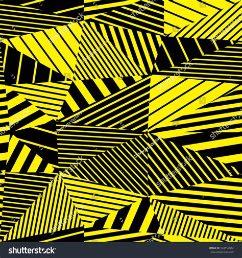 pattern yellow black geometric stripy seamless pattern yellow and black vector