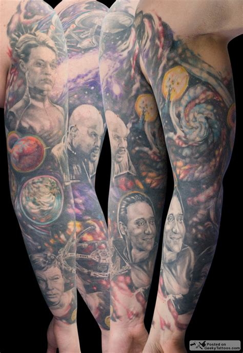 amazing tattoo sleeves s amazing trek sleeve geeky tattoos