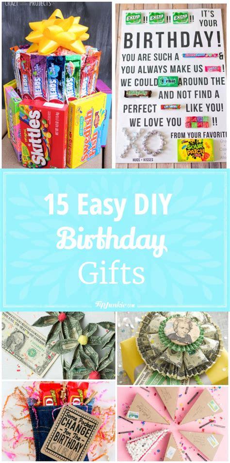 diy birthday gifts for 15 easy diy birthday gifts tip junkie