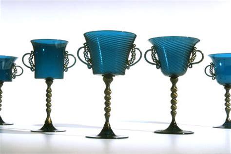 Wine Goblets by Elegant Blue Green Goblets Venetian Or Murano Style