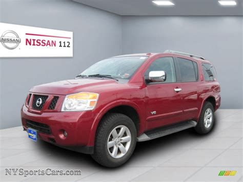 red nissan 2008 2008 nissan armada se 4x4 in red brawn 606318