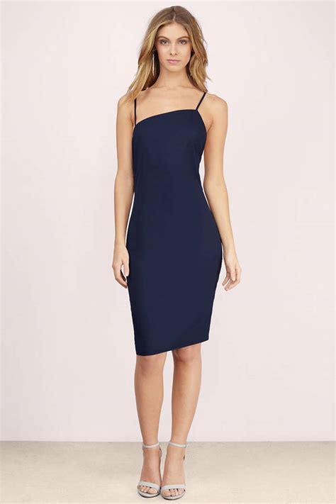 Navy Asimetric Dress trendy navy midi dress asymmetric dress 14 00