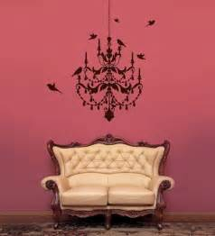 Image of vinyl wall sticker decal art chandelier wall decal