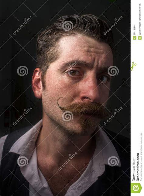 handlebar mustache actor caucasian man handlebar mustache stock photo image of