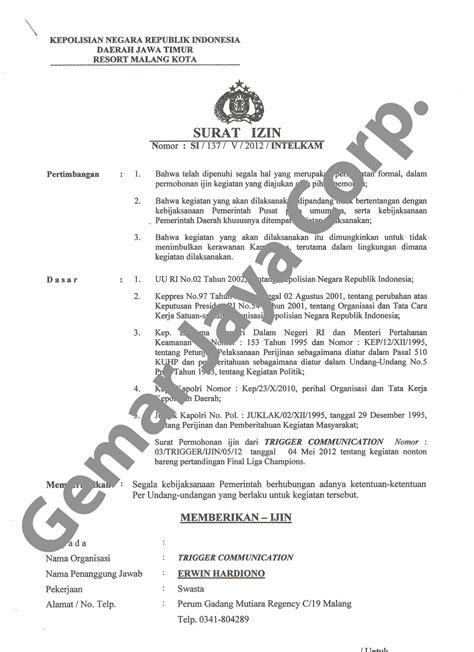 contoh surat izin mengadakan keramaian ke kepolisian 28 images