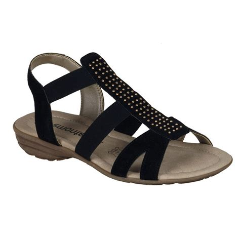 s dressy flat shoes remonte r3665 01 s dressy flat sandal in black leather