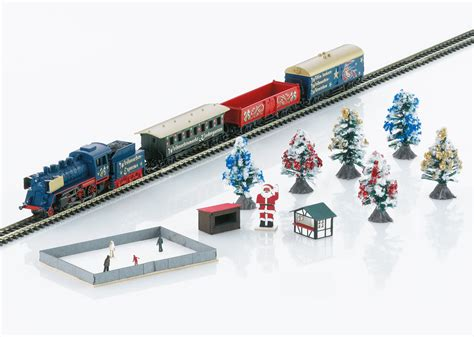 christmas starter set 230 volts freight train with an