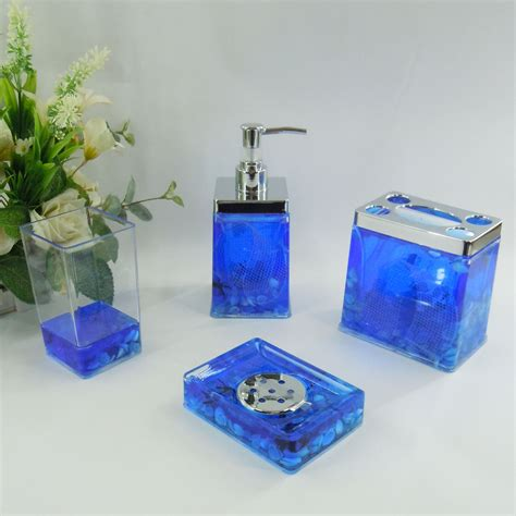 whole bathroom sets blue sea conch acrylic bath accessory sets h4005 wholesale