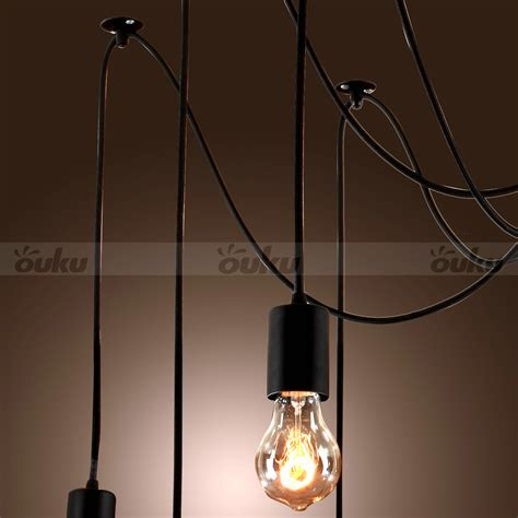 Hanging Bulb Chandelier Edison Style 10 Lights Bulb Chandelier Ceiling Light Pendant L Fixture Ebay