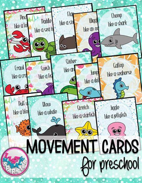 printable animal movement cards ocean animals movement cards for preschool gross motor