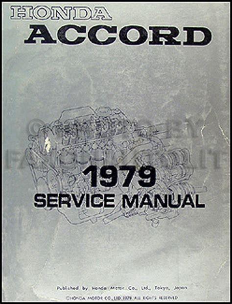 vehicle repair manual 1983 honda accord user handbook 1979 honda accord repair shop manual original