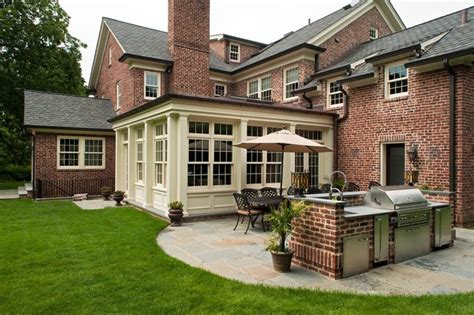 Rancher Style Homes classic scarsdale brick colonial traditional exterior