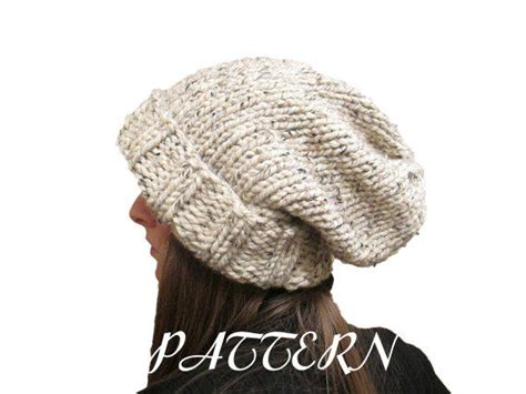 knit hat pattern thick yarn slouchy hat knitting pattern chunky from knittedbyscw