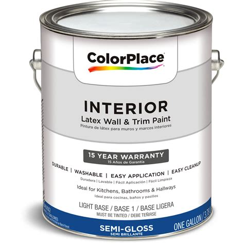 Walmart Interior Paint by Colorplace Interior Paint Semi Gloss Ab 1 Gal Walmart